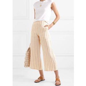 Faithful The Brand Tomas Pants Linen Yellow Stripe